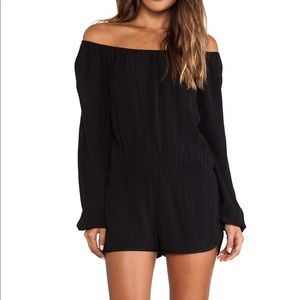 Adorable black romper- perfect with booties!